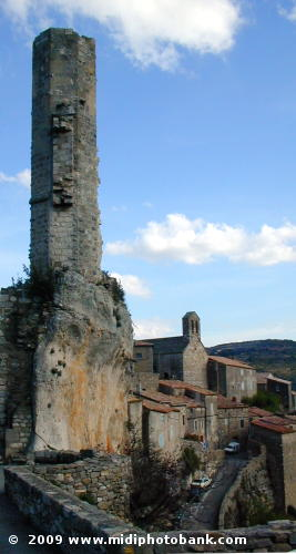 Remaining tower from the Cathar fortress of Minerve